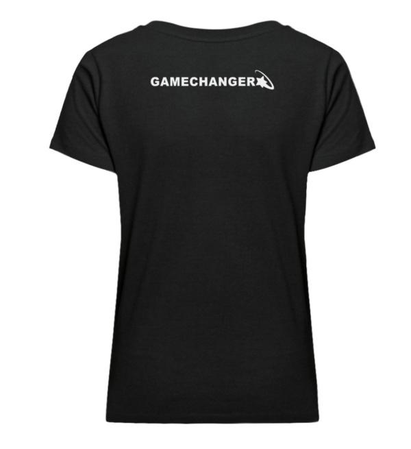 90/20s Girly Shirt - Damen Premium Organic V-Neck T-Shirt ST/ST-16