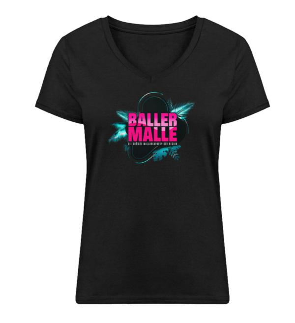 Baller Malle Girly Shirt - Damen Premium Organic V-Neck T-Shirt ST/ST-16